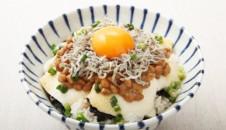 じゃこ納豆×豆腐丼