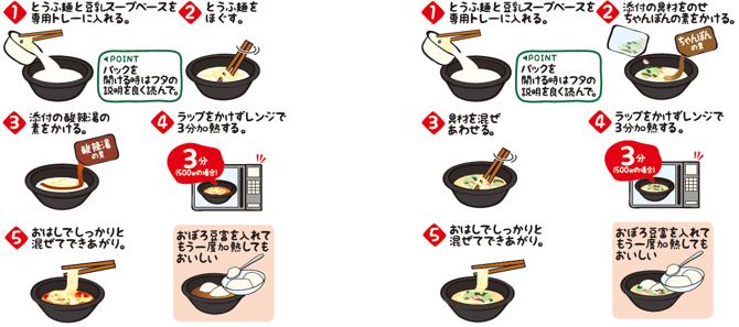 とうふ麺食べ方